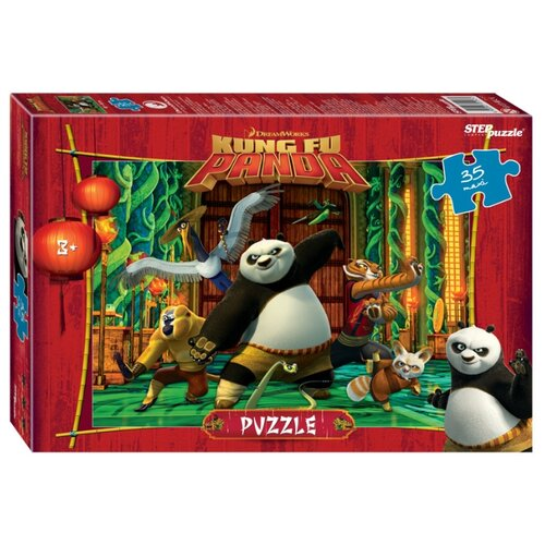 Пазл Step puzzle Maxi Кунг-фу Панда ( 91243), 35 дет. пазл step puzzle park