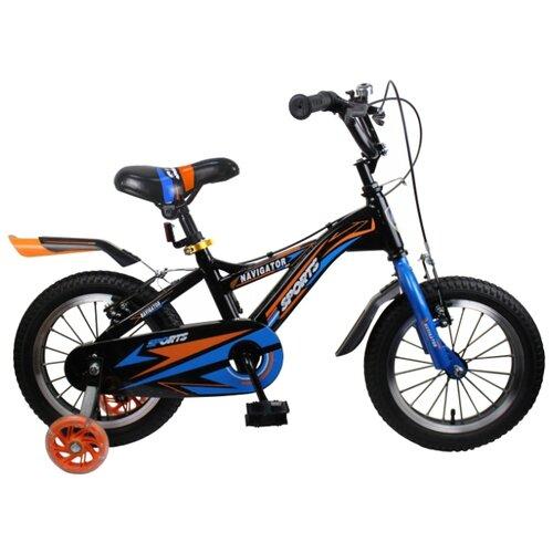 Детский велосипед Navigator Sports II (ВН14189) черный (требует финальной сборки) велосипед детский navigator вн20214 basic