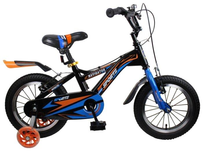 Детский велосипед Navigator Sports II (ВН14189) черный (требует финальной сборки)