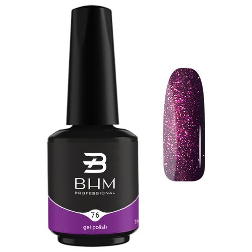 Гель-лак для ногтей BHM Professional Gel Polish, 7 мл, №076 Violet amethyst гель лак для ногтей bhm professional gel polish 7 мл 035 fashion violet
