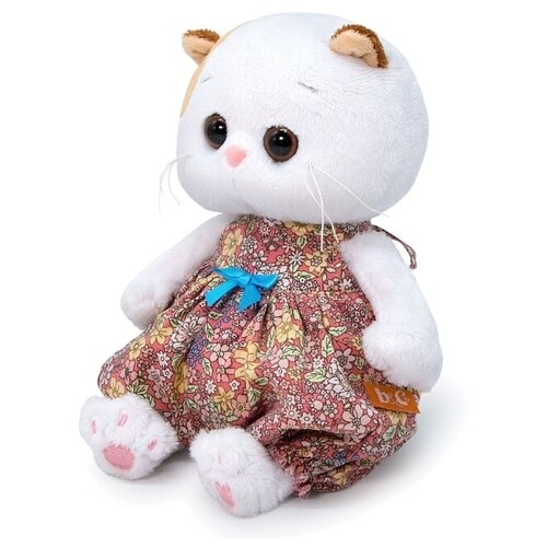 Купить Мягкая игрушка Basik&Co Кошка Ли-Ли baby в песочнике в цветочек 20 см, Мягкие игрушки