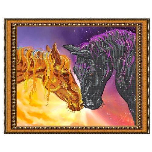 Светлица Набор для вышивания бисером Любовь прекрасна 48 х 38 см, бисер Чехия (112)