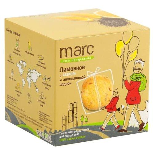 Фото - Печенье Marc 100% натурально Лимонное с маком и апельсиновой цедрой, 50 г традиционное итальянское печенье falcone кантуччи с фисташками и лимонной цедрой 180 г