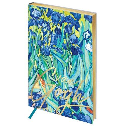 Ежедневник Greenwich Line Vision. Van Gogh. Irises недатированный, искусственная кожа, А5, 80 листов, голубой записная книжка greenwich line vision art искусственная кожа а5 80 листов синий