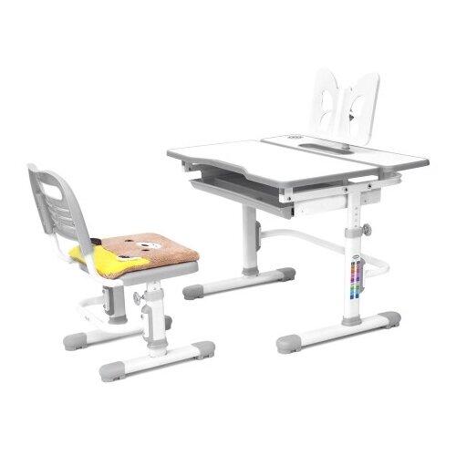Комплект RIFFORMA стол + стул Comfort-07 80x61 см белый/серый rifforma 24