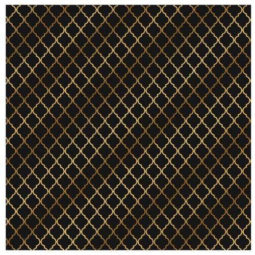 Купить Бумага Арт Узор Вензеля 2735364, 30.5 × 30.5 см, 10 листов черный/золотистый, Бумага и наборы