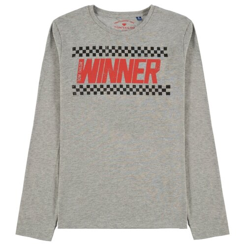Футболка Tom Tailor размер 140, серый меланж футболка tom tailor tom tailor to793embmtw6