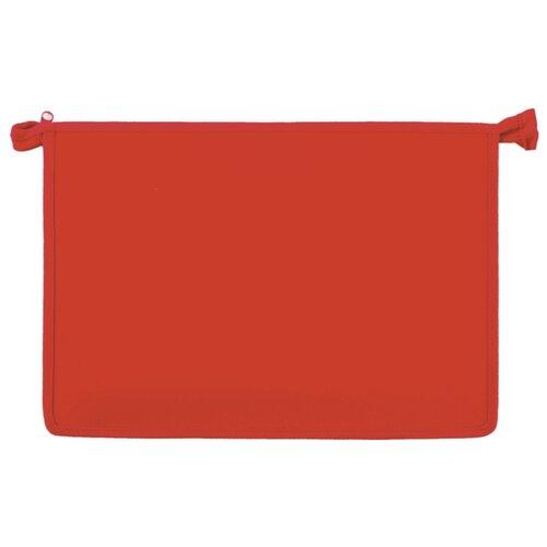 Пифагор Папка для тетрадей А4, молния сверху красный папка для тетрадей а4 пифагор пластик молния сверху прозрачная красная 228208