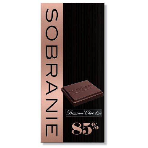 шоколад sobranie горький с апельсином и орехами 72% какао 90 г Шоколад SOBRANIE горький 85% какао, 90 г