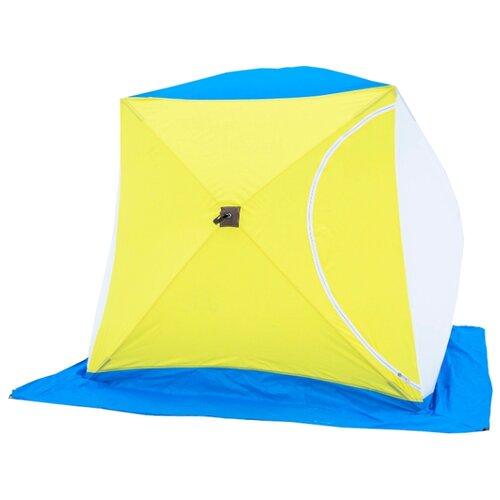 цена на Палатка СТЭК Куб 2 белый/желтый/голубой