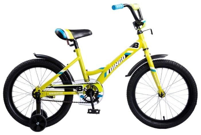 Детский велосипед Navigator Bingo (ВМ18109) желтый (требует финальной сборки)