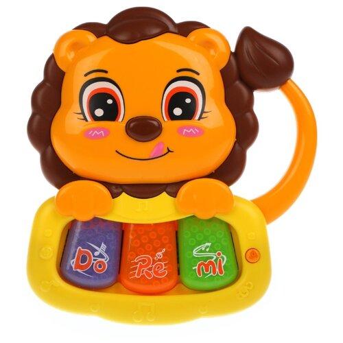 Купить Жирафики пианино Львенок 939799 оранжевый/желтый/фиолетовый/зеленый/коричневый, Детские музыкальные инструменты