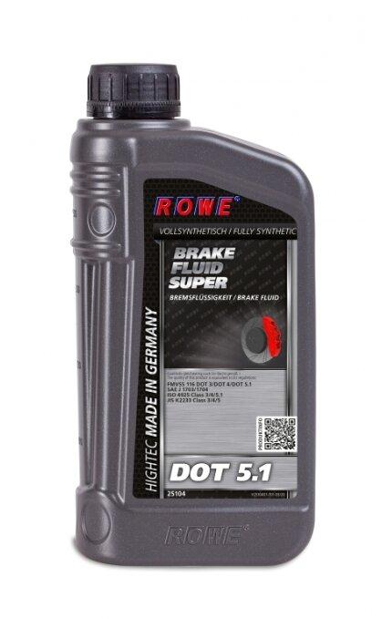 Тормозная жидкость ROWE HIGHTEC BRAKE FLUID SUPER DOT 5.1 1 л