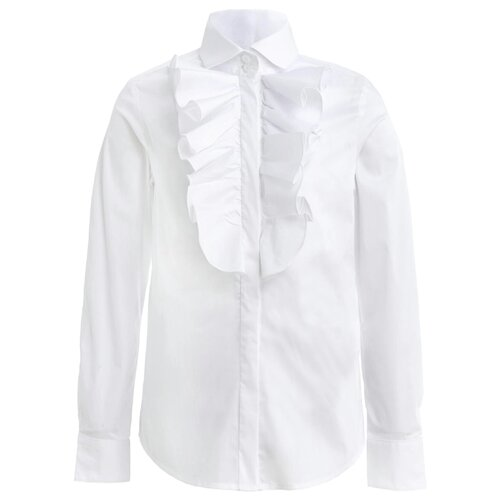 Купить Блузка Gulliver размер 140, белый, Рубашки и блузы