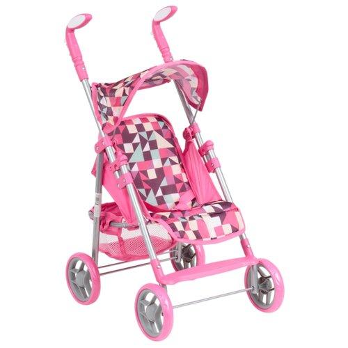 Прогулочная коляска Melobo / Melogo 9351 розовый/фиолетовый/треугольники коляска трансформер melobo melogo 9336 розовый цветочки