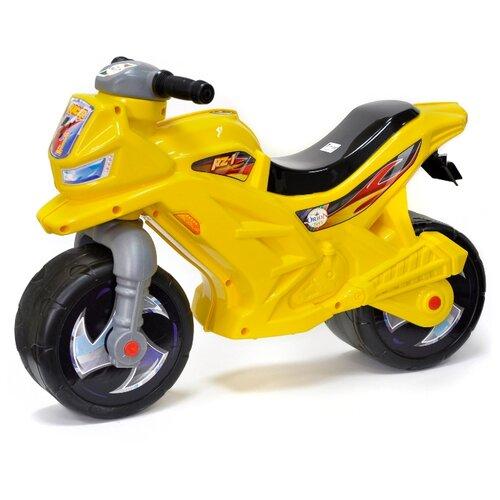 Каталка-толокар Orion Toys Мотоцикл 2-х колесный (501В3) желтый каталка толокар orion toys мотоцикл 2 х колесный 501 зеленый
