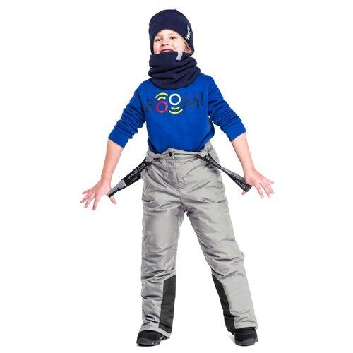 Купить Полукомбинезон BOOM! by Orby 90581_BOB размер 92, светло-серый, Полукомбинезоны и брюки