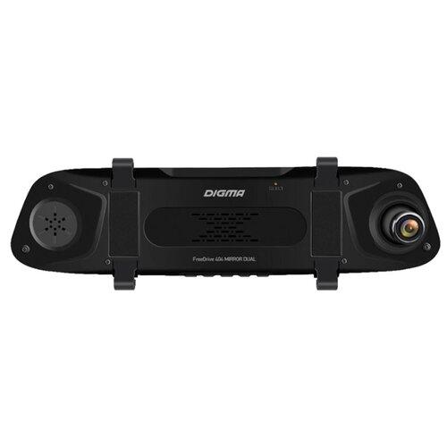 Видеорегистратор DIGMA FreeDrive 404 MIRROR DUAL, 2 камеры черный видеорегистратор digma freedrive 303 mirror dual 4 3 1920x1080 120° microsd microsdhc датчик движения usb черный