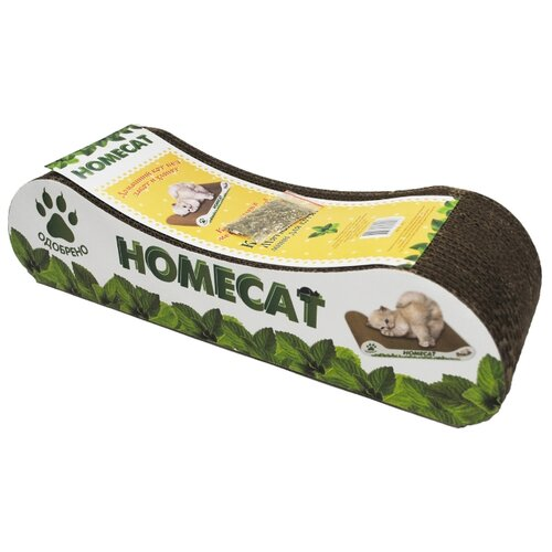 Когтеточка Homecat Мятная волна Mini для котят 12 х 9 х 8 см серый корзина универсальная metaltex pandino цвет малиновый 33 см х 12 см х 9 см