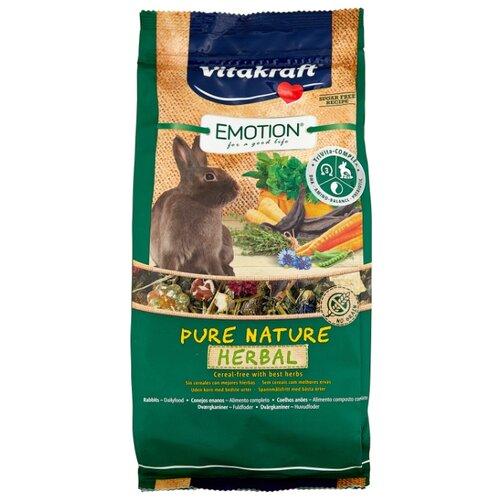 Корм для кроликов Vitakraft Emotion Pure Nature Herbal 600 г корм для кроликов vitakraft pure nature herbal сух 600г