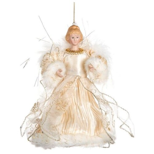 Елочная игрушка Goodwill Ангел 17.5 см (MC 70805) белый/бежевый.