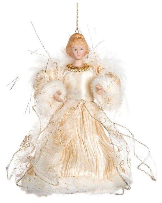 Goodwill, Ёлочная игрушка ангел-нежность, золотисто-кремовый, полистоун, 17.5 см MC 70805