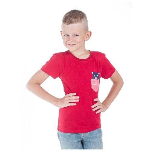 Футболка Belka размер 104, бордовый