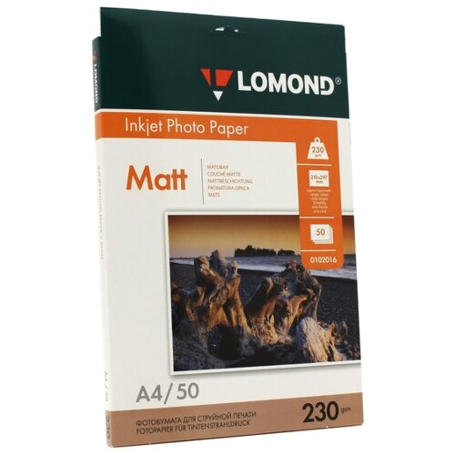 Бумага Lomond A4 Photo Paper 0102016 230 г/м² 50 лист. белый 1 шт.