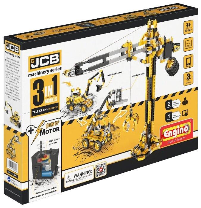 Электромеханический конструктор ENGINO JCB Machinery JCB40 Подъемный кран с мотором 3 в 1