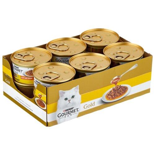 Корм для кошек Gourmet Голд с курицей 12шт. х 85 г (кусочки в соусе) корм для кошек gourmet голд с форелью 24шт х 85 г кусочки в соусе