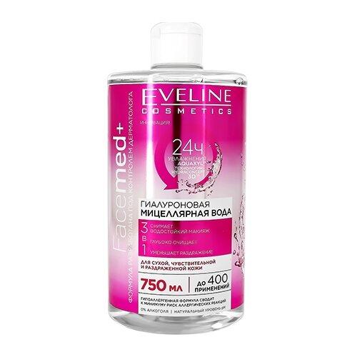 Купить Eveline Cosmetics Facemed+ мицеллярная вода гиалуроновая 3 в 1, 750 мл