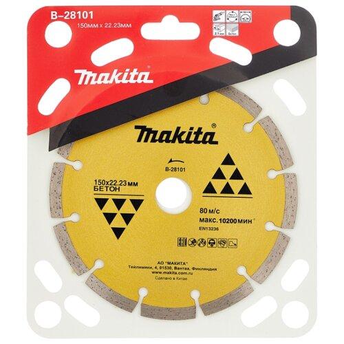 Диск алмазный отрезной 150x22.23 Makita B-28101 1 шт. алмазный диск makita 150х22 2мм economy b 28101