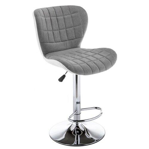 Стул Woodville Brend, металл/текстиль, цвет: серый/белый стул woodville dodo металл текстиль цвет синий