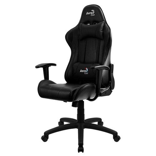 Компьютерное кресло AeroCool AC100 AIR игровое, обивка: искусственная кожа, цвет: черный