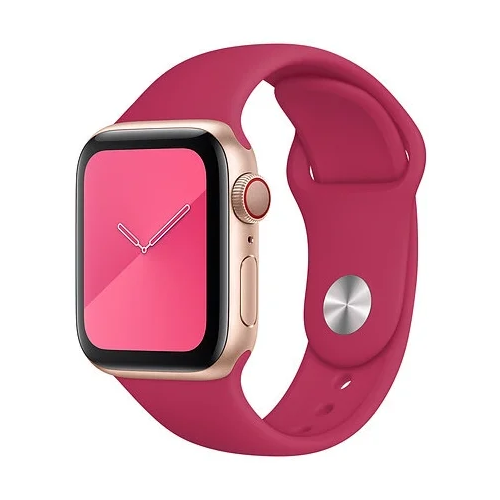 Gurdini Ремешок силиконовый для Apple Watch 38/40mm pomegranate