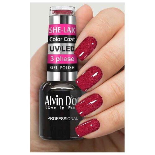 Фото - Гель-лак для ногтей Alvin D'or She-Lak Color Coat, 8 мл, оттенок 3539 гель лак для ногтей cosmoprofi color coat 15 мл оттенок 027