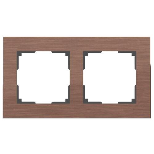 Рамка 2п Werkel WL11-Frame-02, коричневый алюминий рамка werkel aluminium алюминий коричневый wl11 frame 05