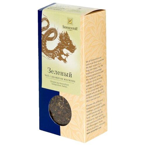 Чай зеленый Sonnentor с ароматом жасмина, 100 г чай черный sonnentor с чабрецом 90 г