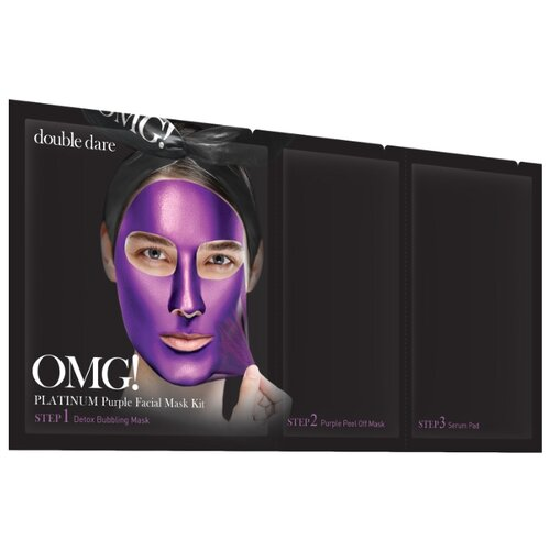 Double Dare трехкомпонентный комплекс масок OMG! Platinum Purple Глубокое увлажнение и релакс, 31 мл