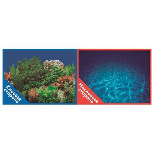 Пленочный фон Prime Растительный пейзаж/Синее море двухсторонний 30х60 см фон для аквариума hagen двухсторонний растительный растительный 45см цена за 10см