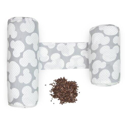 Купить Подушка (валик-позиционер для боковой поддержки) Amarobaby Nature Anatomy с лузгой гречихи (Мышонок серый), Покрывала, подушки, одеяла