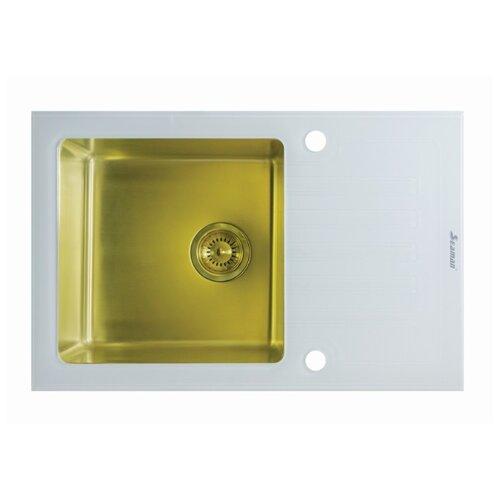 цена на Врезная кухонная мойка 78 см Seaman ECO Glass SMG-780W PVD SMG-780W-Gold.B gold