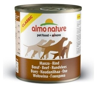 Корм для собак Almo Nature Classic говядина 290г
