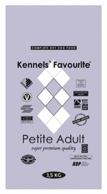 Корм для собак Kennels Favourite утка, телятина, курица 1.5 кг (для мелких пород)