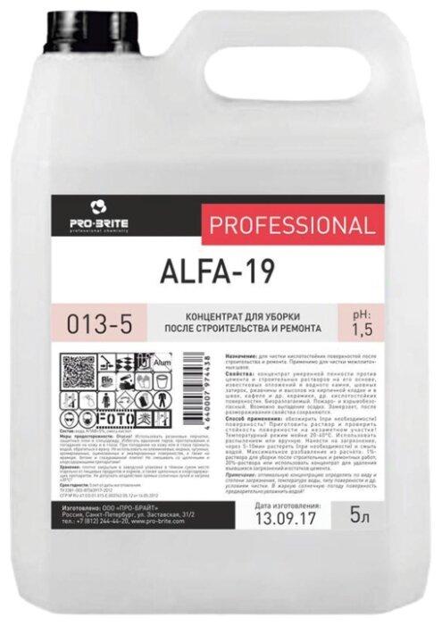 Очиститель Pro-Brite Alfa-19