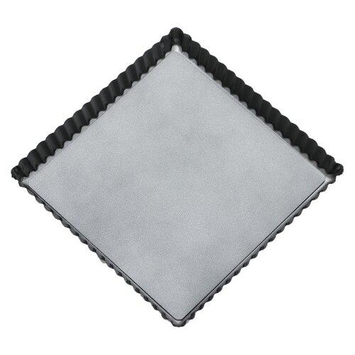 Фото - Форма для выпечки Доляна Жаклин. Рифленый квадрат 3562468, 21х21х2.5 см форма для выпечки доляна жаклин круг 2803201 31 6х21 8х3 5 см