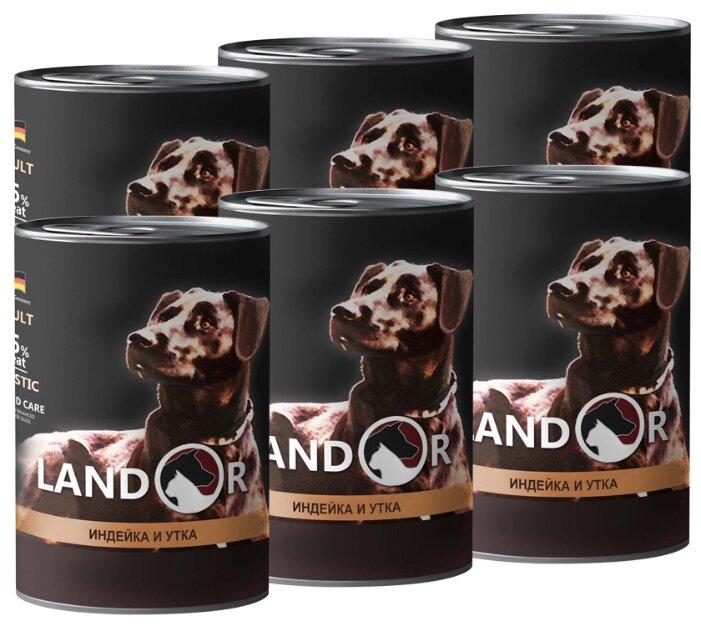 Корм для собак Landor Adult Dog Turkey and Duck для собак всех пород (банка)