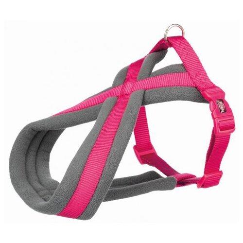 Фото - Шлейка для собак Trixie Premium Touring, размер: S-M, 40–60 см, 20 мм, фуксия шлейка для собак trixie premium touring размер s m 40–60 см 20 мм бежевый