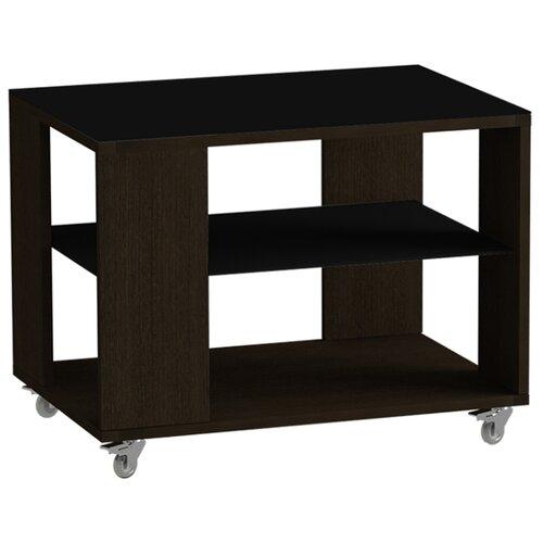 детские столы и стулья leset стол журнальный ls 747 корпус венге Стол журнальный LS 733 02.01 (корпус-венге,стекло-черный)
