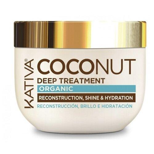 Kativa Coconut Восстанавливающая маска с органическим кокосовым маслом для поврежденных волос, 250 мл спрей для волос kativa kativa ka009lugml06